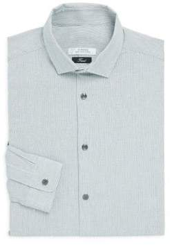 Versace Trend-Fit Striped Dress Shirt