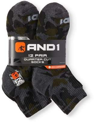 AND 1 Men's Limited Edition Ankle Socks 12-Pack