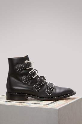 Givenchy Elegant Flat Ankle Boots