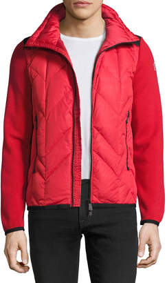 Moncler Puffer-Front Zip Sweater