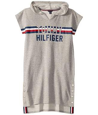 Tommy Hilfiger Short Sleeve Hooded Sweatshirt (Big Kids)
