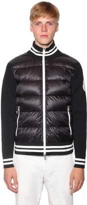Moncler Nylon Tricot Down Sweater