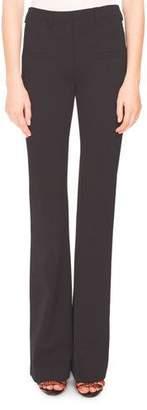 Altuzarra Serge Zip-Front Flare-Leg Pants, Black