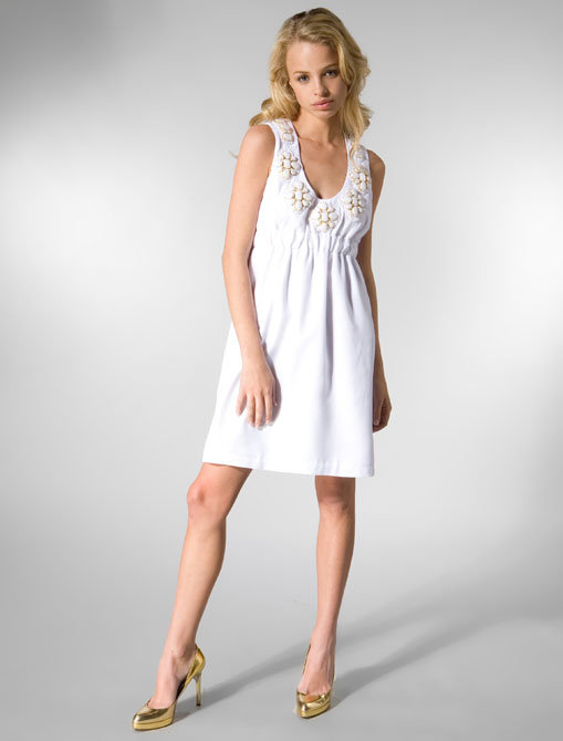 Karta V-Neck Dress in White