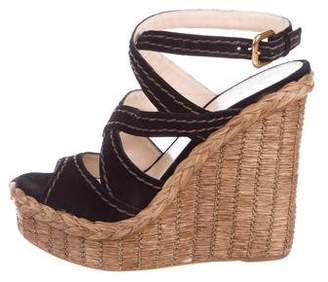 cc13c53d71cd Prada Platform Wedge Women s Sandals - ShopStyle