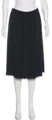 Prada Lace-Trimmed Knee-Length Skirt