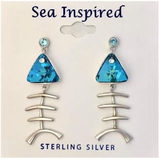 Swarovski Presco Crystal Bonefish Post Earrings
