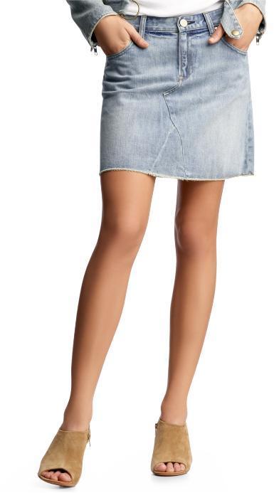 Gap Raw-edged denim mini skirt
