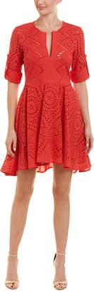 BCBGMAXAZRIA Eyelet A-Line Dress
