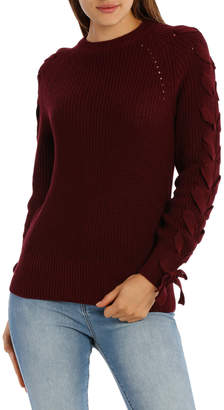Miss Shop Lace Up Sleeve Jumper