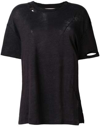 IRO ripped neck T-shirt