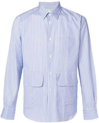 Comme des Garcons Boys suiting stripe patch pocket shirt