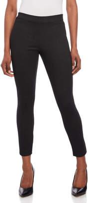 Max Studio Petite Black Printed Ponte Pants