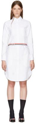 Thom Browne White Stripe A-Line Shirt Dress $990 thestylecure.com