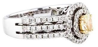 14K Yellow Diamond Engagement Ring
