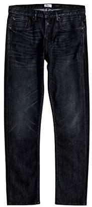 Quiksilver Men's Revolver Blue Black Denim Jean Pants