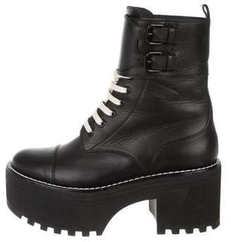 Louis Vuitton Leather Platform Ankle Boots