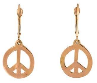 Helen Ficalora 14K Peace Sign Drop Earrings