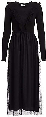 RED Valentino Women's Long-Sleeve Midi Dress