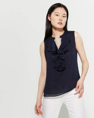 Tommy Hilfiger Floral Embroidered Sleeveless Top