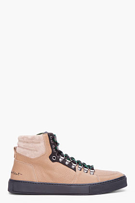 YVES SAINT LAURENT Beige Malibu Hiking Sneakers
