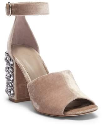 Joie Lafayette Block Heel Velvet Sandal