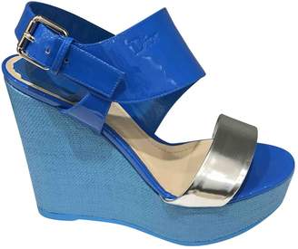 Christian Dior Blue Leather Sandals