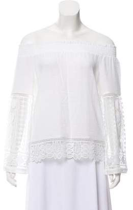 Ramy Brook Long Sleeve Off-The-Shoulder Blouse
