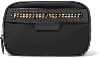 Stella McCartney The Falabella Chain And Faux Leather-trimmed Shell Cosmetics Case - Black