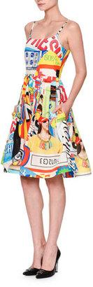 Moschino Powerpuff Girls Tank Dress W/Pockets, White/Multi $1,295 thestylecure.com