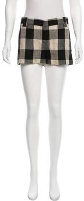 Proenza Schouler Linen Checkered Shorts