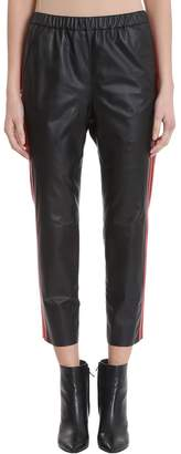 Drome Black Leather Trousers