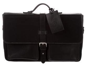 Polo Ralph Lauren Leather-Trimmed Canvas Briefcase