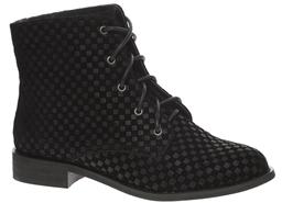 Shellys London Proskar Flat Lace Up Ankle Boots - Black