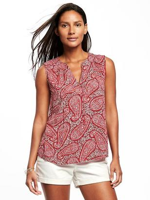 Relaxed Tie-Front Sleeveless Blouse for Women $26.94 thestylecure.com