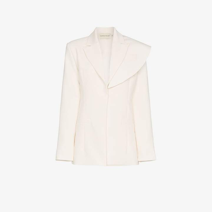 George Keburia asymmetric fitted blazer