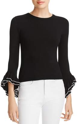 Milly Ruffle-Sleeve Top