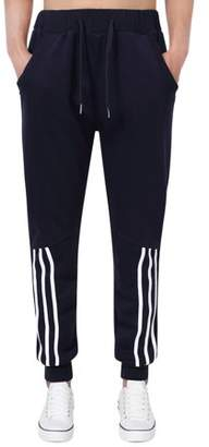 LinTimes Running Pants for Men Casual Long Pants With Elastic Waistband Color:Royal Blue Size:M