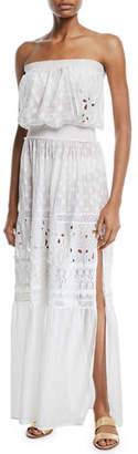Ramy Brook Isadora Cotton-Silk Strapless Coverup Dress
