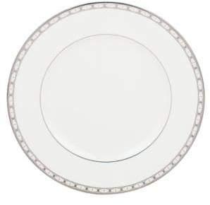 Kate Spade Platinum-Trimmed Bone China Dinner Plate