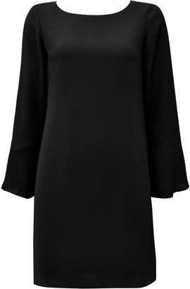 Wallis PETITE Black Flute Sleeve Shift Dress