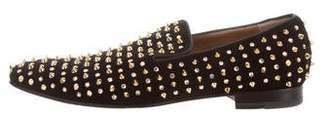 Christian Louboutin Spike-Embellished Smoking Slippers