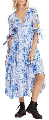 Free People Forever Always Floral Midi Dress