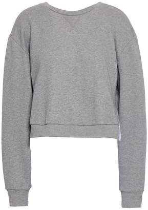 328c61af364443 3.1 Phillip Lim Cropped French Cotton-terry And Ruffled Poplin Sweatshirt