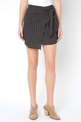 Abbeline Stripe Wrap Mini Skirt