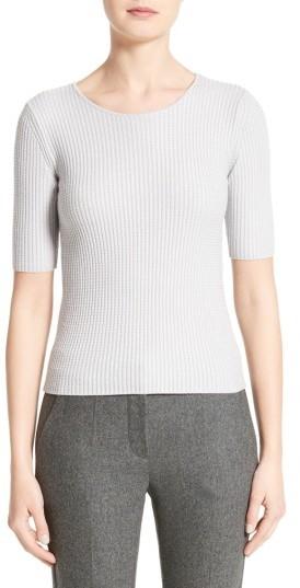 Women's Armani Collezioni Stretch Wool Blend Top
