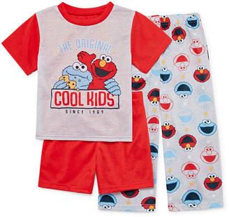 83a21b80d3 Sesame Street SESAME ELMO Sesame Elmo 3-pc. Pajama Set Toddler Boys