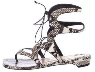 Christian Louboutin Snakeskin Thong Sandals
