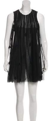 Muveil Embroidered Mini Dress