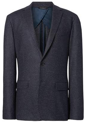 Banana Republic Slim Navy Pinstripe Italian Motion-Stretch Wool Suit Jacket